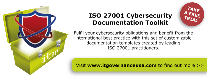 Take a free trial of our ISO 27001 Cybersecurity Documentation Toolkit