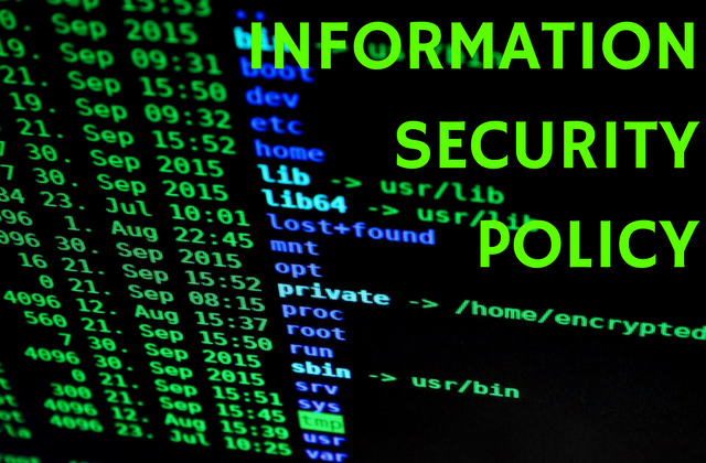Information security policy documentation
