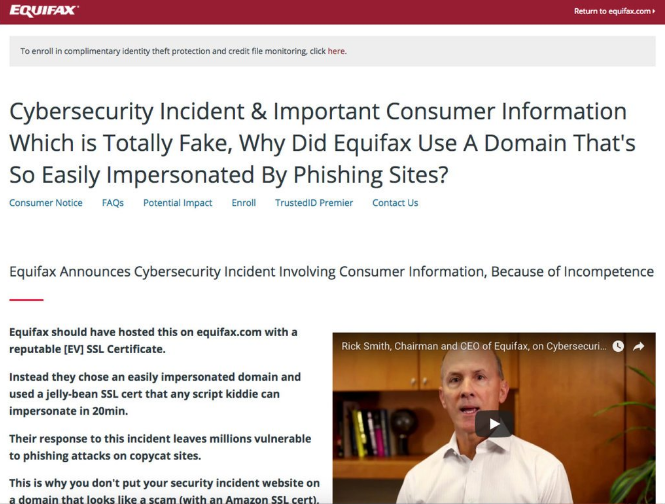 Equifax data breach cybersecurity