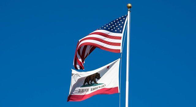 Californian + US flag