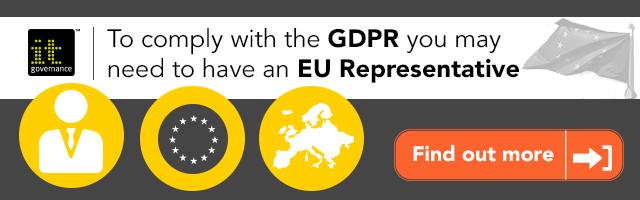 GDPR Representative banner