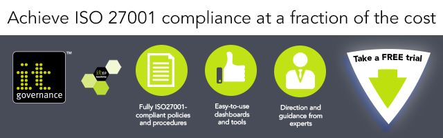 ISO 27001 trial banner