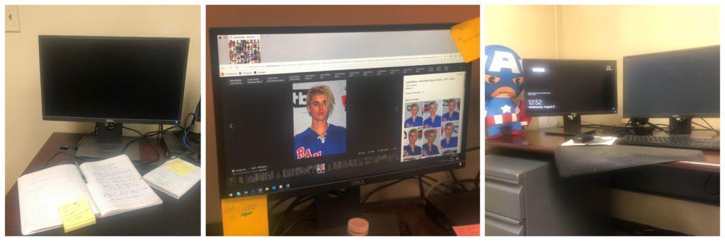 Screens on desks