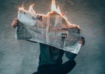 Newspaper burning