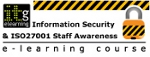 Information Security & ISO27001 Staff Awareness eLearning course