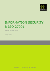 Information security & ISO27001 briefing paper