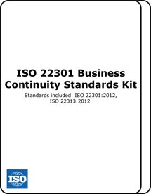ISO 22301 Business Continuity Standards Kit
