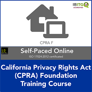 California Consumer Privacy Act (CCPA) Foundation Self-Paced Online Training Course